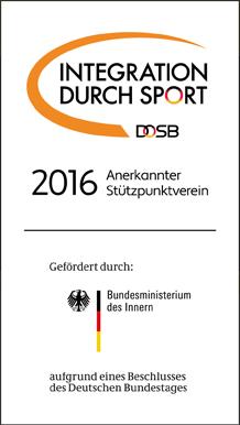 Der FSV ist anerkannter Stützpunktverein 2016 für Integration durch Sport.